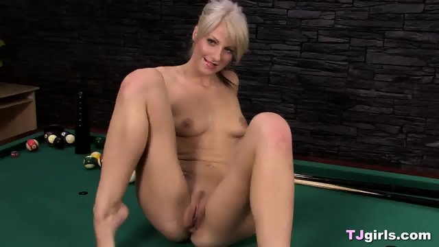 Blonde Lesbian Babes On A Pool Table - scene 4