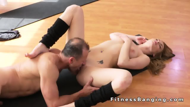 Perfect ass blonde gets banged after yoga training - scene 12