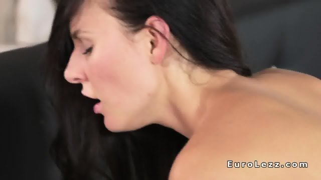 Busty blonde lesbo sucks brunettes titties - scene 11