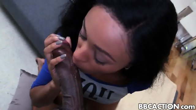 Tiny petite sexy black girl Anya Ivy - scene 1