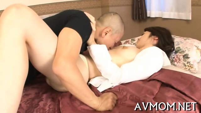 Three guys and one horny Asian slut - scene 6