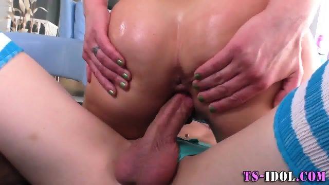 Bdsm shemale licks cum - scene 8