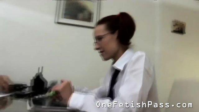 Redhead Schoolgirl Has A Horny Teacher - scene 1
