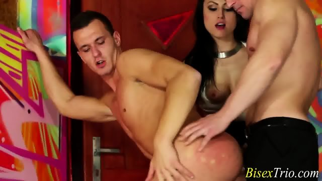 Whore rides bisex hunk - scene 8