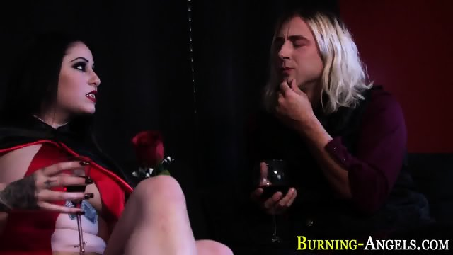 Busty alt slut facialized - scene 2