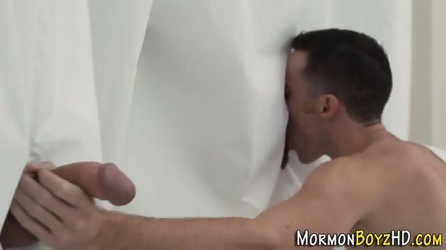 Mormon cums bareback - scene 3