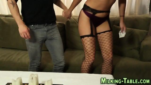 Slutty masseuse tit fucks - scene 1