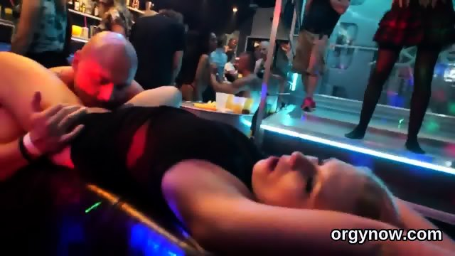Pretty hotties suck cock and enjoy penetrating and gangbang - scene 12