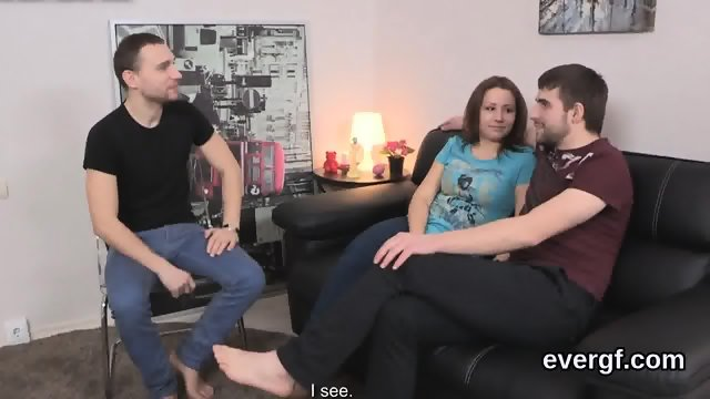 Indebted boyfriend lets hot buddy to nail his girlfriend for dollars - scene 3
