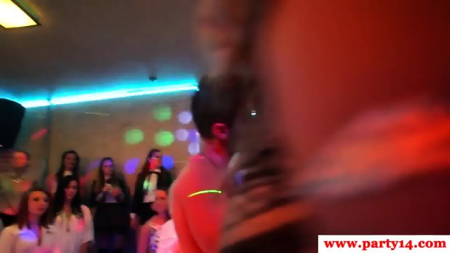 Glam euro amateurs sucking cock at party - scene 11