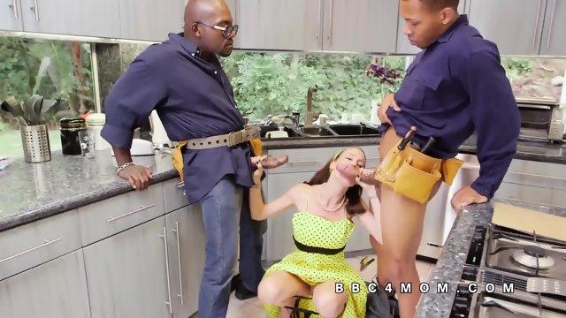 McKenzie Lee blows huge black dicks - scene 8