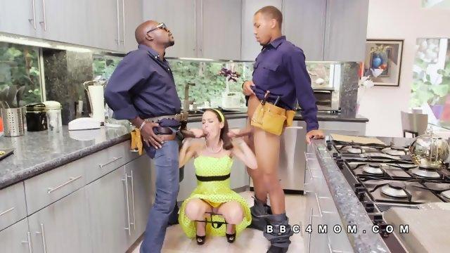 McKenzie Lee blows huge black dicks - scene 12