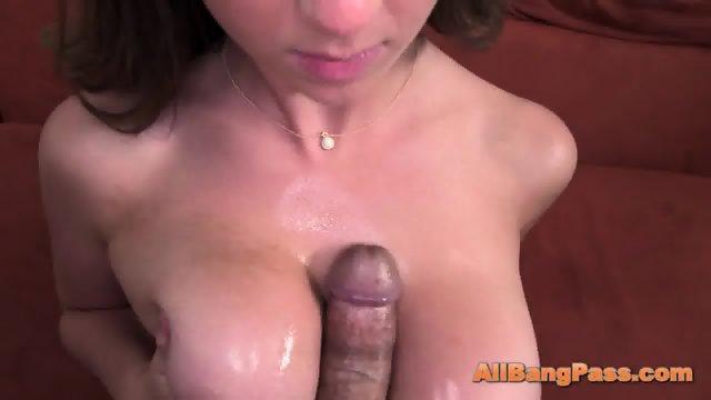 Playing with big tits and handjob - scene 5