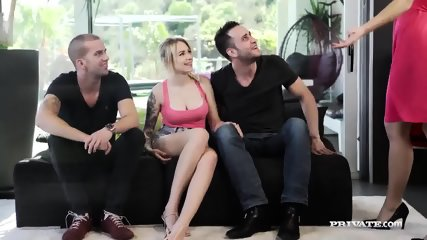 Milf Tina Kay Gets DP During Orgy With Blonde... - scene 1