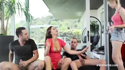 Milf Tina Kay Gets DP During Orgy With Blonde... - scene 4