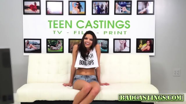 Young chick comes to audition and gets fucked - scene 2