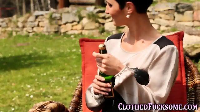 Jizzy clothed euro slam - scene 1