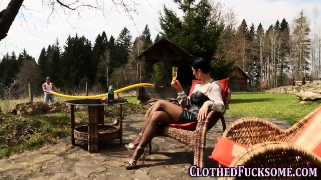 Jizzy clothed euro slam - scene 3