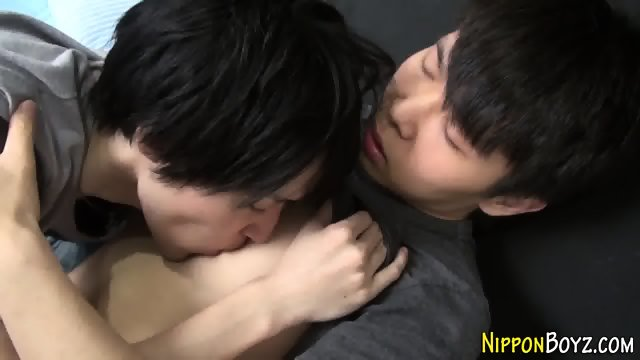 Asian twink gets facial
