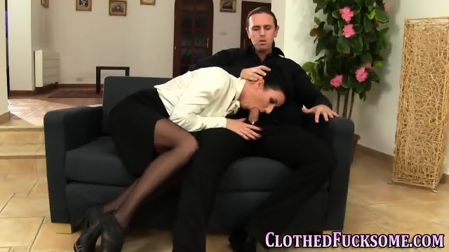 clothed threesome porn old milf sex tube