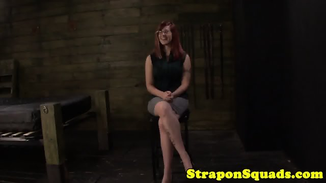 Busty ginger submissive destroyed by lezdoms
