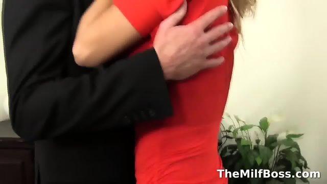 Hot boss fucks her employ - scene 1