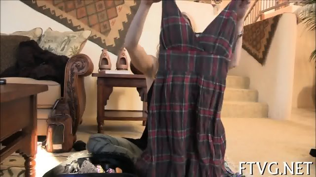 Babe plays with vibrator - scene 3