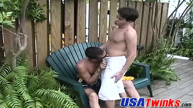Two cute guys team up to stretch a horny bottoms tight hole - scene 3
