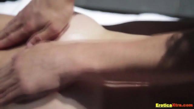 Sensual massage and hot fun for brunette - scene 4
