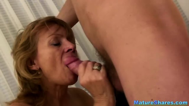 Natural Granny Sucking A Huge Hairy Cock - scene 6