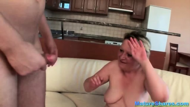 Blonde Fat Mature Gives An Oral - scene 8