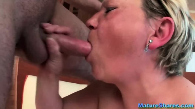 Blonde Fat Mature Gives An Oral - scene 10