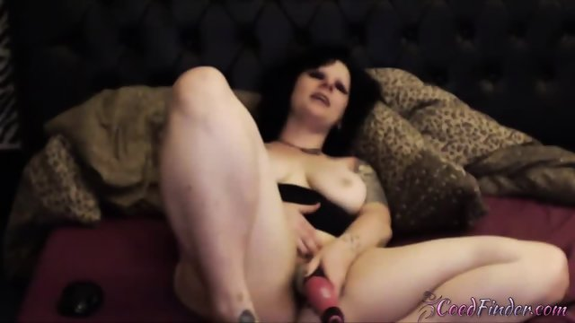 Gorgeous tattooed punk Kitty Fox gets crazy orgasm - scene 6
