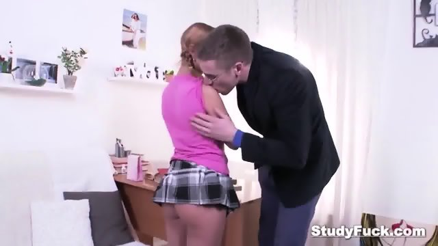 Blonde Student Jacey Teases Her Tutor