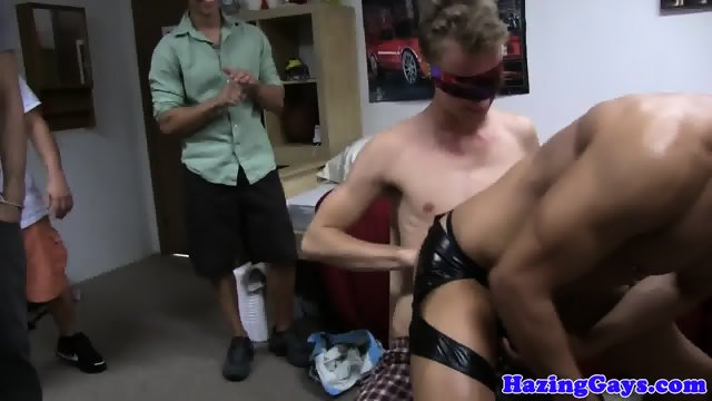 Dorm students cocksuck and assfuck in group