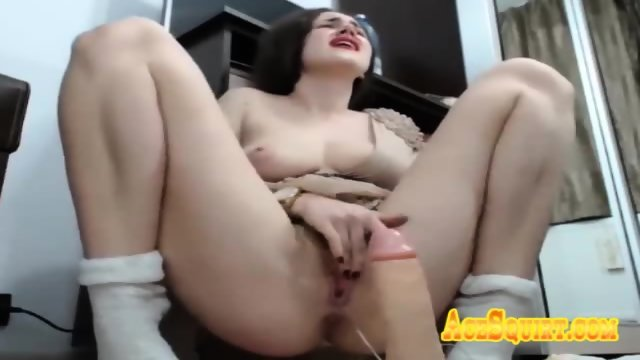 Natural Tits Milf Craves for ACESQUIRT Sex Toy Vibration on Her Pussy PLAY NOW