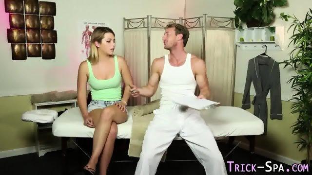 Teen gobbles masseurs rod - scene 2