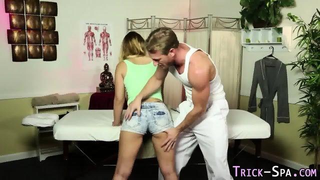 Teen gobbles masseurs rod - scene 4