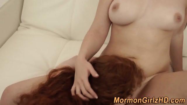 Mormon muffdived by lesbo - scene 10