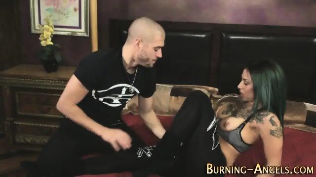 Tattooed whore gets oral - scene 3