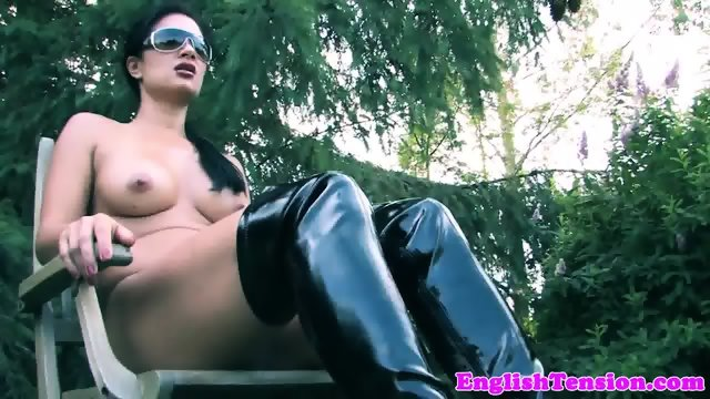 Mistress pissing on sub outdoors in the mud - scene 6