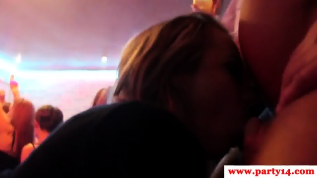 Cocksucking euro babe jerking cock at party - scene 6