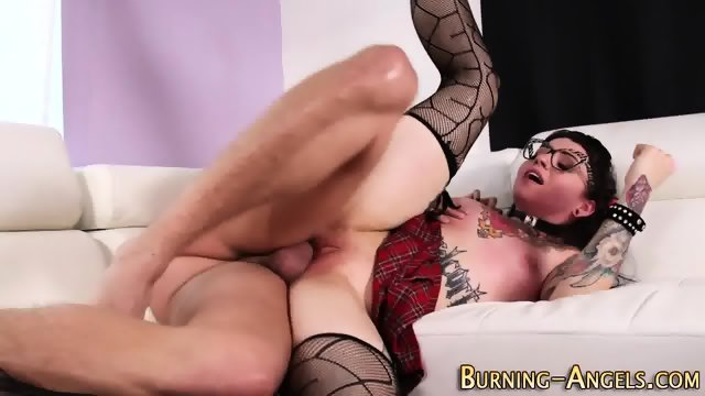 Tattooed goth gets railed - scene 11