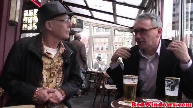 Pussyeaten amsterdam hooker enjoys tourist