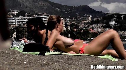 Topless Bikini Teens Beach Voyeur Spy Cam Hd Video - scene 10