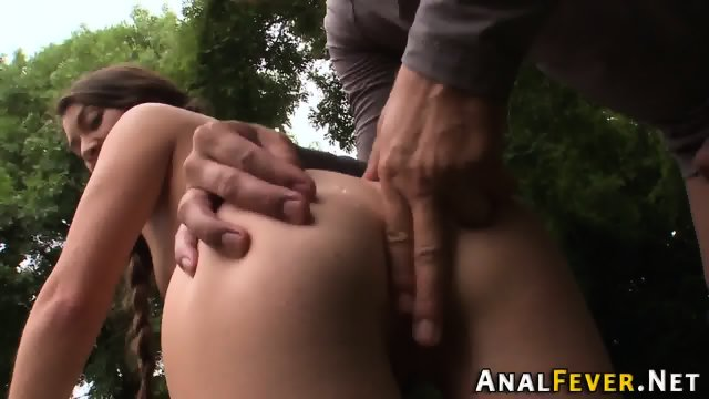 Slut gets booty pounded