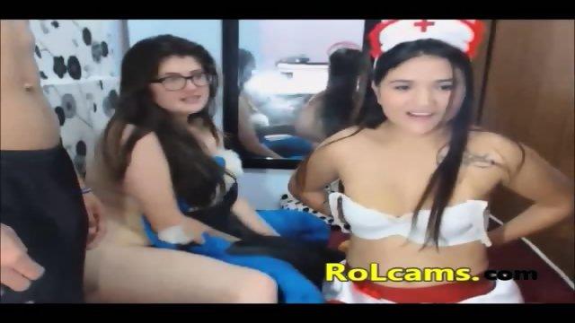 Foursome hot fucking on webcam