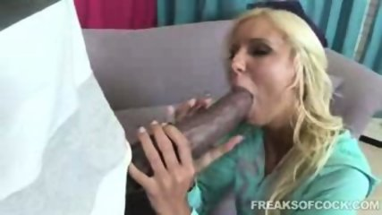Hot blonde babe sucking a fake cock! - scene 8