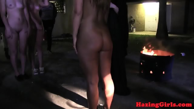 Nightime lesbian hazing ends in the showers 6