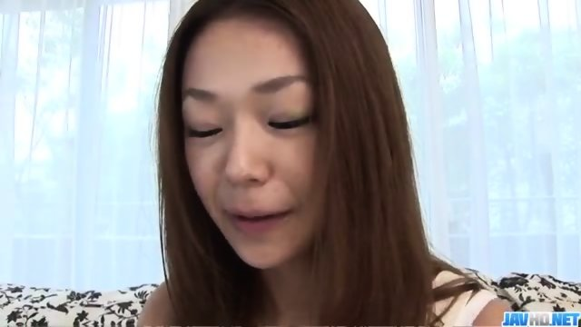 Cute, Serina Hayakawa, starts throating cock in POV